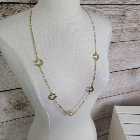 Lilly Pulitzer Gold Tone Horseshoe Necklace